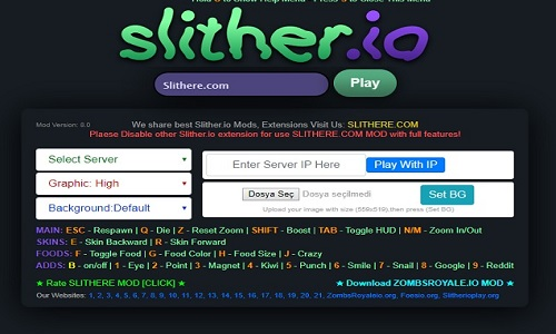slither.io mods